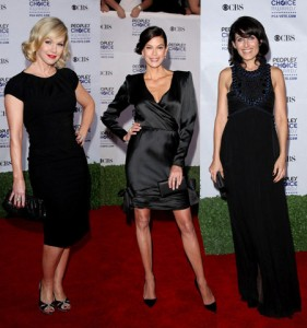 Back in Black: Jennie Garth, Teri Hatcher and Lisa Edelstein in People´s Choice Awards Gala