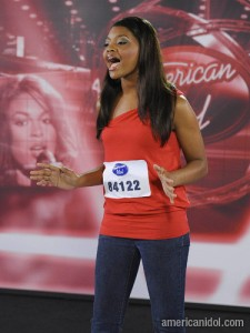 Presentation of Jasmine Murray on American Idol Second Gala of Season 8 Feb 25