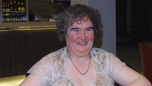 Susan Boyle stressed out in a clinic