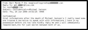 Spammers using Michael Jackson´s death to collect e-mails