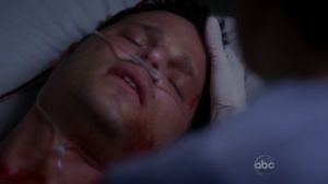 Alex Karev dead alive grey anatomy season finale shot