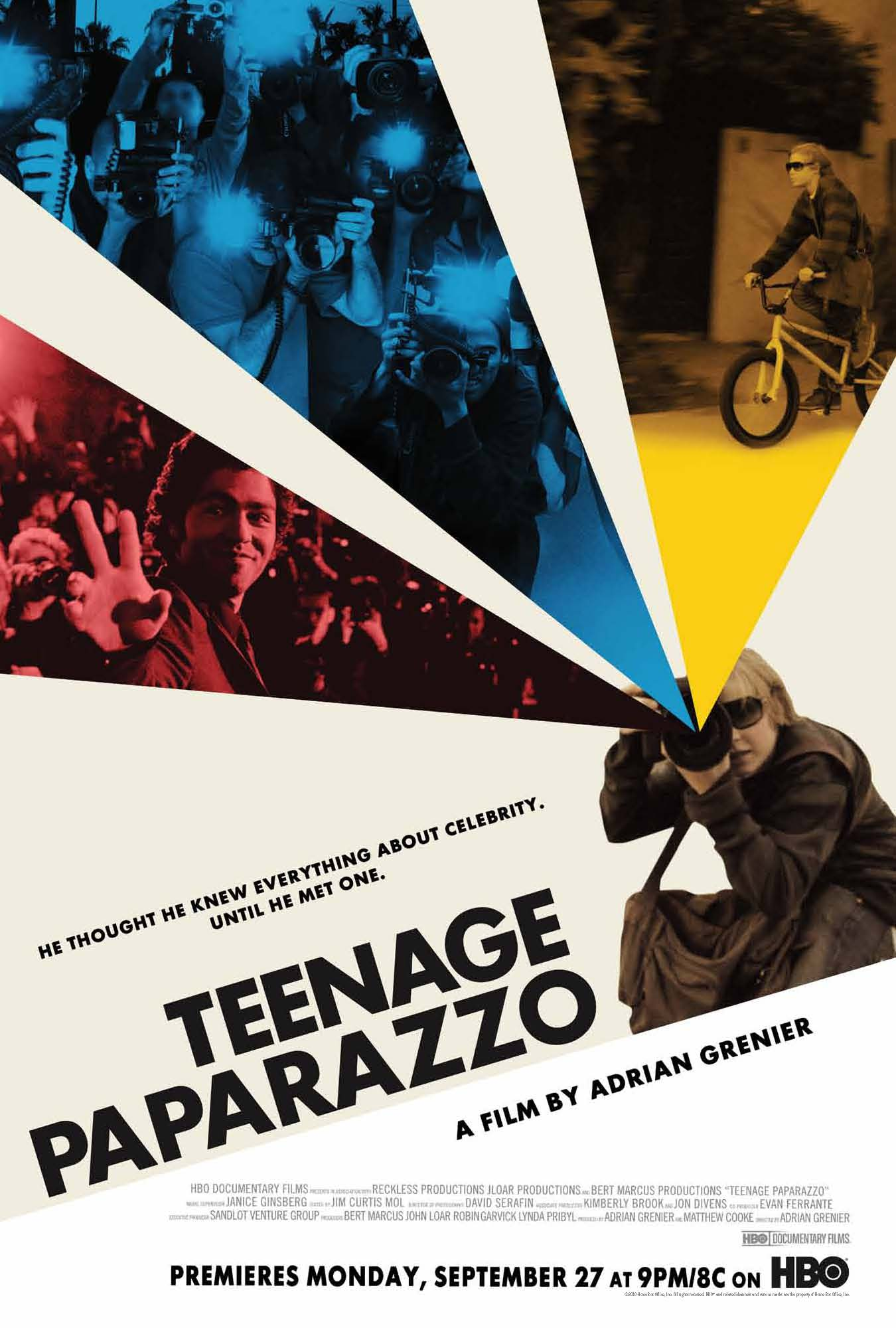 HBO Documentary: Teenage Paparazzo debuts September 27th