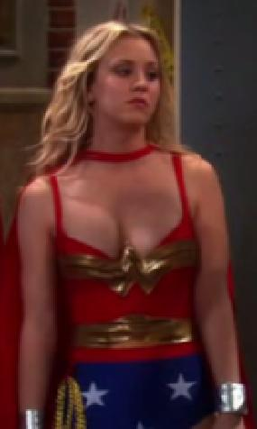 kaley-cuoco-penny-wonder-woman-hot-photo-boobs-cleavage