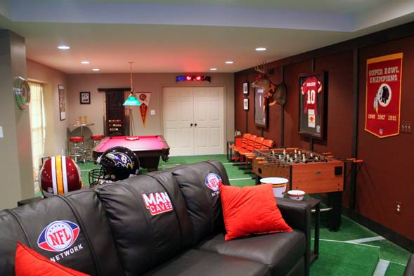 Man Cave Show On Diy : Half red skins ravens fan man cave premieres on diy