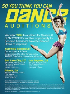 Casting Call: Open Auditions for So You Think You Can Dance Season 8