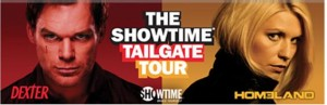 "Showtime´s Homeland and Dexter will tour Colleges as part of its ""Tailgate Tour"""