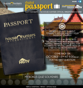 HGTV's House Hunters International Launches Digital Passport Experience App on Facebook