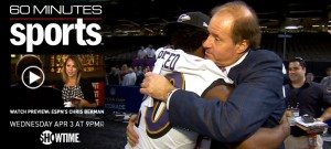 Chris Berman from @espn advocates for Bonds and Clemens to get into Baseball HoF on 60 Minutes Sports on Showtime