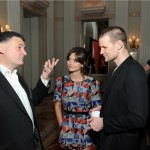 Doctor Who Executive Producer, Steven Moffat and cast members Matt Smith and Jenna Coleman chat at the Winners Reception at the 72nd Annual Peabody Awards at the Waldorf Astoria on Monday, May 20TH