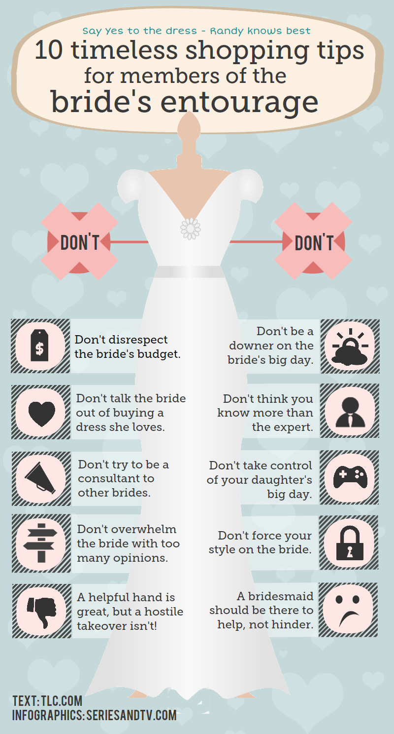 Infographic shopping tips for members of the brides entourage infographic timeless shopping tips brides entourage say yes junglespirit