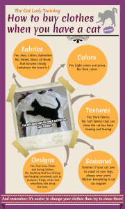 Cat Lady Training #1 How to Buy Clothes When You Have a Cat. Infographic – Complete Series Here