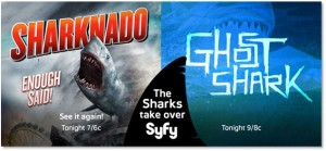#Sharknado and #GhostShark tonight on Syfy will probably break Twitter