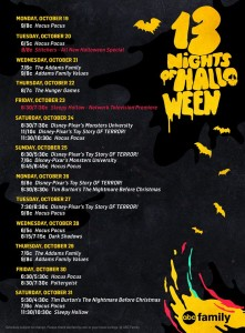 ABC Family´s 13 Nights of Halloween 2015 Programming Schedule