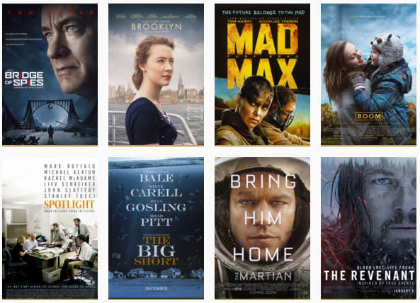 best picture oscars nominees 2016 academy awards