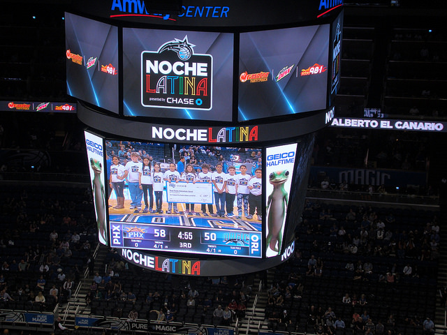 noche latina orlando magic nba