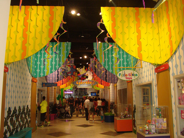 Inside Children´s Museum in Houston, Texas