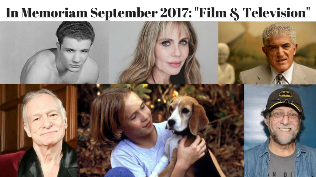 In Memoriam September 2017 Film & Television