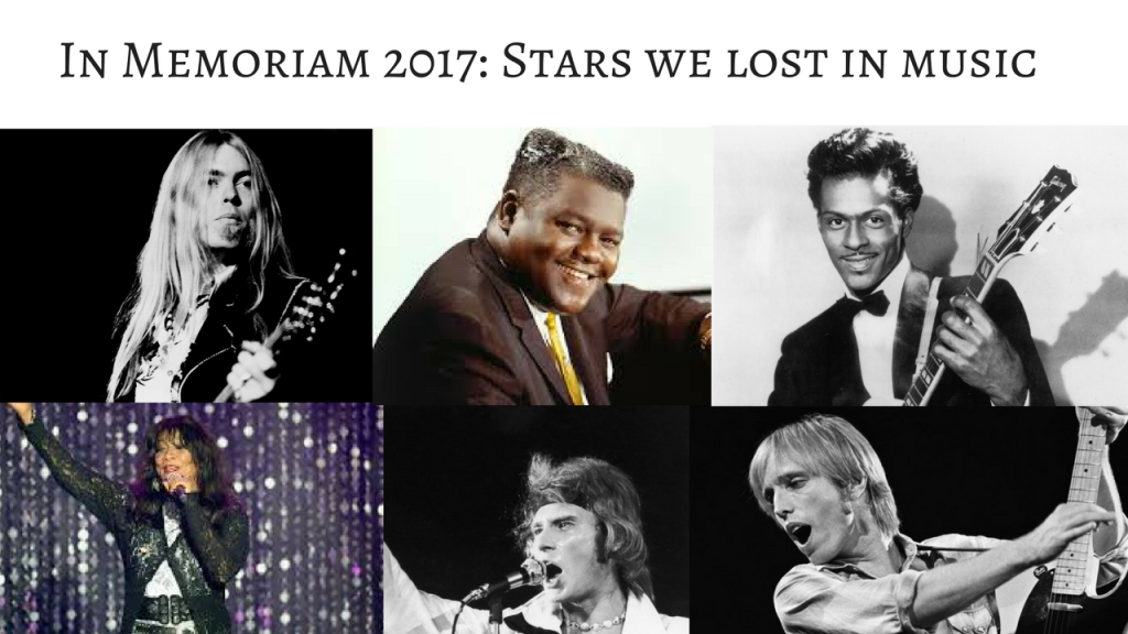 In Memoriam 2017_ Stars we lost in music