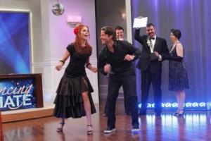 Nate Berkus with Dancing with the Stars Anna Trebunskaya dancing