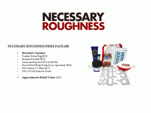 Necessary Roughness Contest and Giveaway: Win a great Prize Pack!