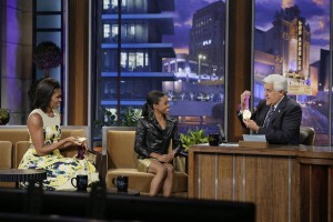 First Lady Michelle Obama full video interview on The Tonight Show with Jay Leno