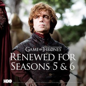 Game of Thrones renewed for two more seasons, 5 & 6