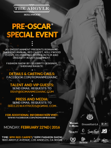 Pre-Oscar special event at The Argyle celebrating Women in Film