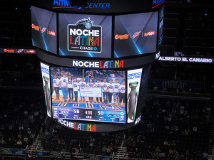 Attending Noche Latina at Orlando Magic